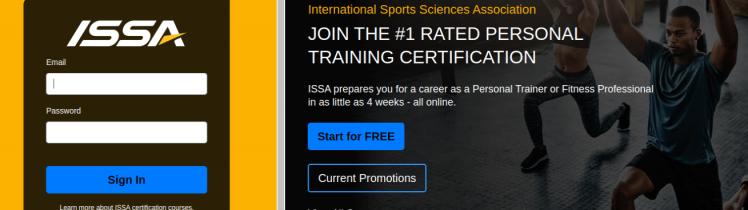 ISSA Trainer Login