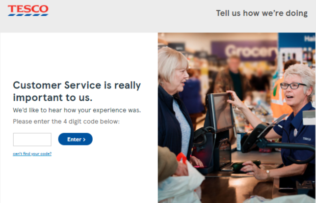 Tesco Customer Survey