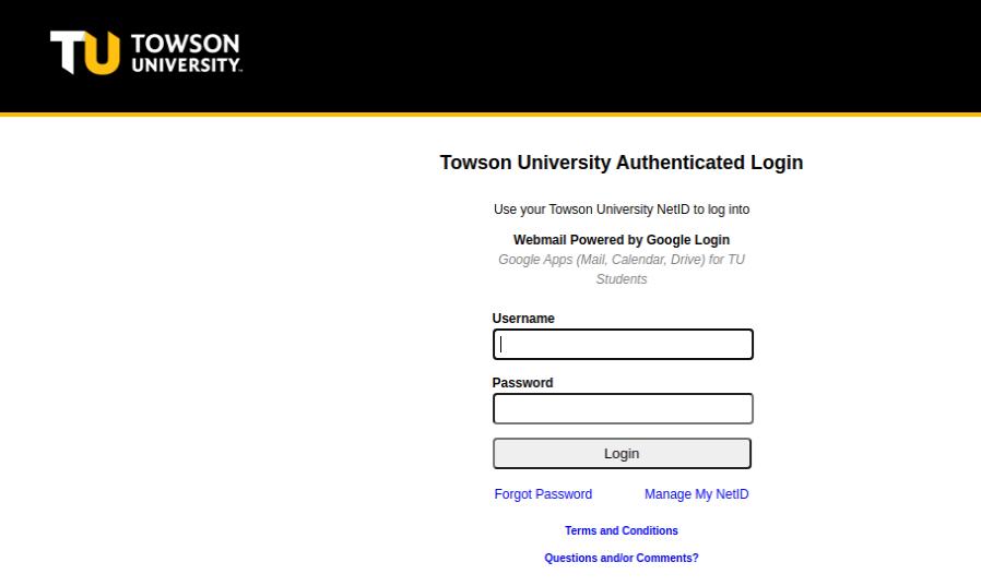Towson University Login