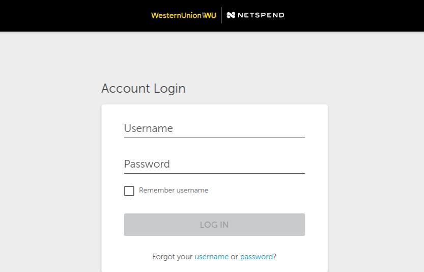 Western Union Netspend Prepaid Login